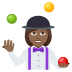 🤹🏾‍♀️ woman juggling: medium-dark skin tone Emoji on Joypixels Platform