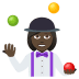 🤹🏿‍♀️ woman juggling: dark skin tone Emoji on Joypixels Platform