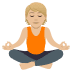 🧘🏼 person in lotus position: medium-light skin tone Emoji on Joypixels Platform