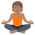 🧘🏽 person in lotus position: medium skin tone Emoji on Joypixels Platform
