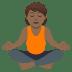 🧘🏾 person in lotus position: medium-dark skin tone Emoji on Joypixels Platform