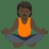 🧘🏿 person in lotus position: dark skin tone Emoji on Joypixels Platform