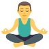 🧘‍♂️ man in lotus position Emoji on Joypixels Platform
