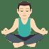 🧘🏻♂️ man in lotus position: light skin tone Emoji on Joypixels Platform