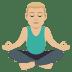 🧘🏼♂️ man in lotus position: medium-light skin tone Emoji on Joypixels Platform