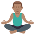 🧘🏽‍♂️ Medium Skin Tone Man In Lotus Position Emoji on JoyPixels Platform