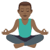 🧘🏾‍♂️ man in lotus position: medium-dark skin tone Emoji on Joypixels Platform