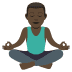 🧘🏿‍♂️ man in lotus position: dark skin tone Emoji on Joypixels Platform