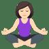 🧘🏻♀️ woman in lotus position: light skin tone Emoji on Joypixels Platform