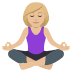 🧘🏼‍♀️ woman in lotus position: medium-light skin tone Emoji on Joypixels Platform