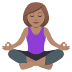 🧘🏽‍♀️ woman in lotus position: medium skin tone Emoji on Joypixels Platform