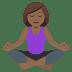 🧘🏾♀️ woman in lotus position: medium-dark skin tone Emoji on Joypixels Platform