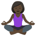 🧘🏿‍♀️ woman in lotus position: dark skin tone Emoji on Joypixels Platform