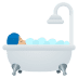 🛀🏼 person taking bath: medium-light skin tone Emoji on Joypixels Platform