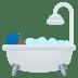 🛀🏾 person taking bath: medium-dark skin tone Emoji on Joypixels Platform