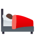 🛌🏾 person in bed: medium-dark skin tone Emoji on Joypixels Platform