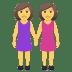 👭 women holding hands Emoji on Joypixels Platform