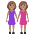 👭🏽 women holding hands: medium skin tone Emoji on Joypixels Platform