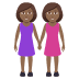 👭🏾 women holding hands: medium-dark skin tone Emoji on Joypixels Platform