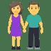 👫 woman and man holding hands Emoji on Joypixels Platform