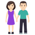 👫🏻 woman and man holding hands: light skin tone Emoji on Joypixels Platform