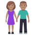 👫🏽 woman and man holding hands: medium skin tone Emoji on Joypixels Platform