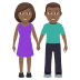 👫🏾 woman and man holding hands: medium-dark skin tone Emoji on Joypixels Platform