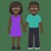 👫🏿 Dark Skin Tone Woman and Man Holding Hands Emoji on JoyPixels Platform