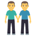 👬 men holding hands Emoji on Joypixels Platform