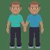 👬🏽 men holding hands: medium skin tone Emoji on Joypixels Platform
