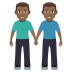 👬🏾 men holding hands: medium-dark skin tone Emoji on Joypixels Platform