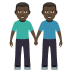 👬🏿 Dark Skin Tone Men Holding Hands Emoji on JoyPixels Platform