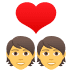 💑 couple with heart Emoji on Joypixels Platform