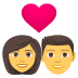 👩‍❤️‍👨 Woman And Man Couple With Heart Emoji on JoyPixels Platform