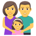 👨‍👩‍👧 family: man, woman, girl Emoji on Joypixels Platform