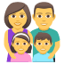 👨‍👩‍👧‍👦 family: man, woman, girl, boy Emoji on Joypixels Platform