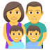 👨‍👩‍👦‍👦 family: man, woman, boy, boy Emoji on Joypixels Platform