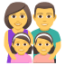 👨‍👩‍👧‍👧 family: man, woman, girl, girl Emoji on Joypixels Platform