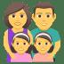 👨👩👧👧 family: man, woman, girl, girl Emoji on Joypixels Platform