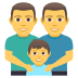👨‍👨‍👦 Family With Man, Man And Boy Emoji on JoyPixels Platform