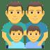 👨👨👦👦 family: man, man, boy, boy Emoji on Joypixels Platform