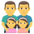 👨‍👨‍👧‍👧 family: man, man, girl, girl Emoji on Joypixels Platform