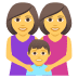 👩‍👩‍👦 Family With Woman, Woman And Boy Emoji on JoyPixels Platform