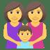 👩👩👦 family: woman, woman, boy Emoji on Joypixels Platform