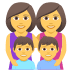 👩‍👩‍👦‍👦 family: woman, woman, boy, boy Emoji on Joypixels Platform