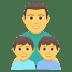 👨👦👦 family: man, boy, boy Emoji on Joypixels Platform