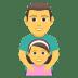 👨👧 Family With Man And Girl Emoji on JoyPixels Platform