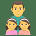👨👧👧 family: man, girl, girl Emoji on Joypixels Platform