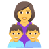 👩‍👦‍👦 family: woman, boy, boy Emoji on Joypixels Platform