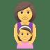 👩👧 family: woman, girl Emoji on Joypixels Platform